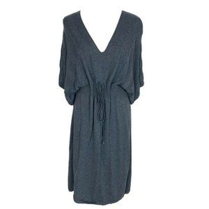 M.S.S.P. Cotton Blend Gray Dress Women's
